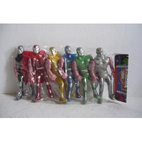 Paquete De 6 Luchadores Plastico Soplado - Muñeco De Juguete