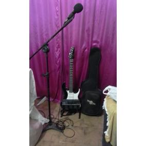Guitar Golden+ Caser+ Microfone Lesson+suport+pedaleir Zoom