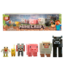 Minecraft 6 Figuras, Animal Pack Pack, Articuladas
