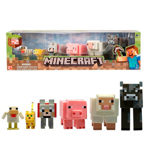 Minecraft Set 6 Figuras Animal Pack Animales