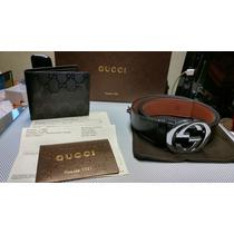 Cinturón Gucci Con Cartera