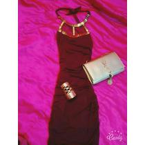 Hermoso Vestido Color Vino Shasa!!!!