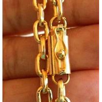Cordão Banhado A Ouro - Fecho De Gaveta