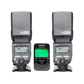 2 Flash Yn685 Con Controlador Disparador Yn622 Para Nikon