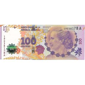 Bottero C002 Col 816b $100 Evita Serie A Sin Circ. Palermo