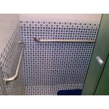 Kit 3 Barras Ou Alça De Apoio Em Alumínio 40cm