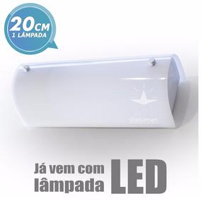 Arandela Camarim 20cm Com Led Ideal P/ Espelhos E Banheiro