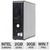 Cpu Dell Optiplex 755 Core 2 Duo Ghz 2gb Hd80 Gb