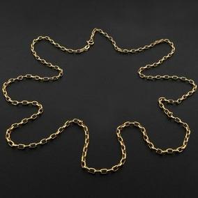 Corrente Elos Cartier Em Ouro Maciço Amarelo 20 Gramas