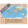 Mapa Mundi Politico Escolar - 120cm X 90cm Gigante