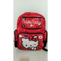 Mochila Escolar Hello Kitty - Tam.g, Linda!!! Grátis Estojo