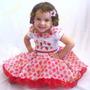 Vestido Infantil Da Moranguinho - Modelo Princesa Festa