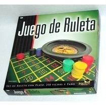 Juego De Ruleta Con 250 Fichas Paño Rastrillo