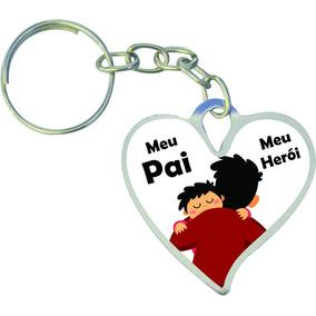 Chaveiro Coração Personalizado, Dia Dos Pais, Brinde P/ Loja