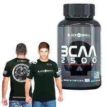Bcaa 120 Tabletes + Camiseta Do Bope - Black Skull