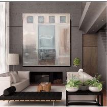 Cuadro Grande Moderno Abstracto Texturas Relieve Tierra Beig