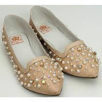 Sapato Bordado Perola E Cristal