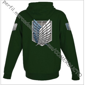Sudadera Attack On Titan Shingeki No Kyojin Verde Doag