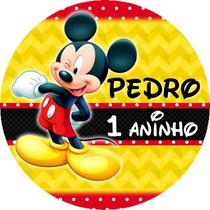 100 Adesivos P/ Latinha Personalizados Mickey Mouse + Brinde
