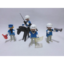 Playmobil Vintage Escuadron De Policia Marca Geobra Set 3494