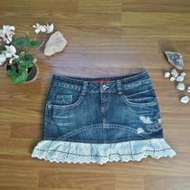 Linda Mini Falda Soccx Mezclilla Jeans Bordado Talla L/40