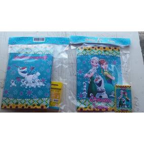 Kit Revistinha + Giz + Solapa Frozen Fever - 15 Kits