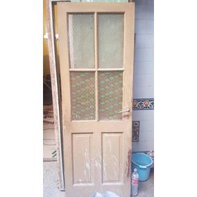 Puerta Combinada Madera Y Vidrio - A Reciclar!