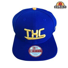 Boné Aba Reta Importado New Era Txc Brand Azul E Amarelo