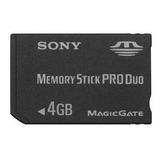 Cartão De Memória Sony Pro Duo 4gb Câmera Dsc-w320 W150 S750