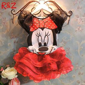 Vestido Fantasia Infantil Minie Disney Festa Aniversario