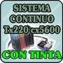 Sistema Continuo Para Epson 73n Tx220 Tx300 Cx5600 Con Tinta
