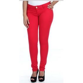 Calça Jeans Feminina Colorida Sawary Kit 2 Calças