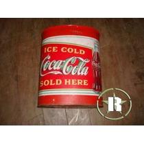 Lata Coca Cola Anos 50 Usada Para Gelar Garrafinhas De Vidro