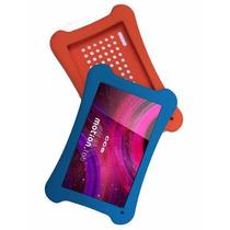 Capa Silicone Tablet Cce Tr91 Tr9 + Pelicula Vidro + Caneta