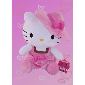 Hello Kitty Con Vestido Rosa Peluche