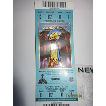 Boleto Super Bowl 2013 Xlvii Baltimore Ravens Super Bowl