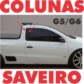 Colunas Saveiro G5 G6 G7 4 Peças Cabine Simples E Estendida