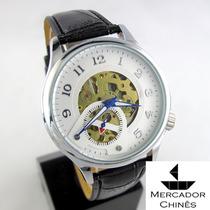 Relógio Importado Winner Branco Automático Máquina Aparente