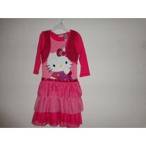 Vestido Niña Rosa Hello Kitty Talla: 7-8 Mod:1013