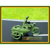 Figuras Motocicleta Militar Side Car + Soldado Ho 1:87 Metal