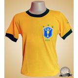 Camisa Retrô Seleção Brasileira Brasil 1982 - S A L D Ã O !