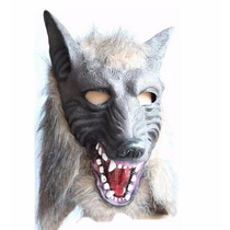 Máscara Lobo Halloween Carnaval Festa Fantasia Lobisomem