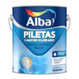 Pintura Piletas Alba Caucho Clorado Mate 4 Lt Celeste Prof