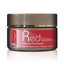 Red Mask - Mascara Tonalizante Vermelha - Red Iron 300g