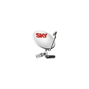 Lote 2-decodificador Sky E 1-antena Sky- No Estado.