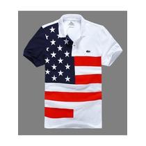Camiseta Polo Paises Usa Pronta Entrega