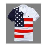 Camiseta Polo Bandeira Estados Unidos Pronto Entrega