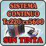 Sistema Continuo Para Epson 73n Tx220 Tx300 Cx5600 Sin Tinta