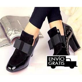 Zapatos Charol Con Moño Zapatos Altos Moda 2017 Envio Gratis
