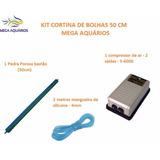 Kit Cortina De Bolhas Pedra Poros 50cm+ Compres 110v+ 2 Mang
